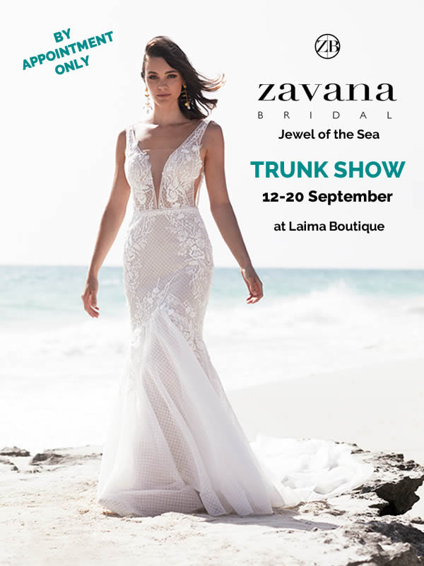 Zavana Bridal Jewel of the Sea trunk show at Laima Boutique.